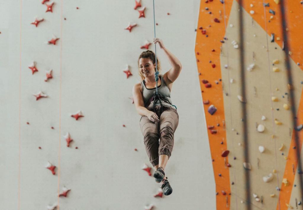 fitness at the university of alberta, student climbing wall