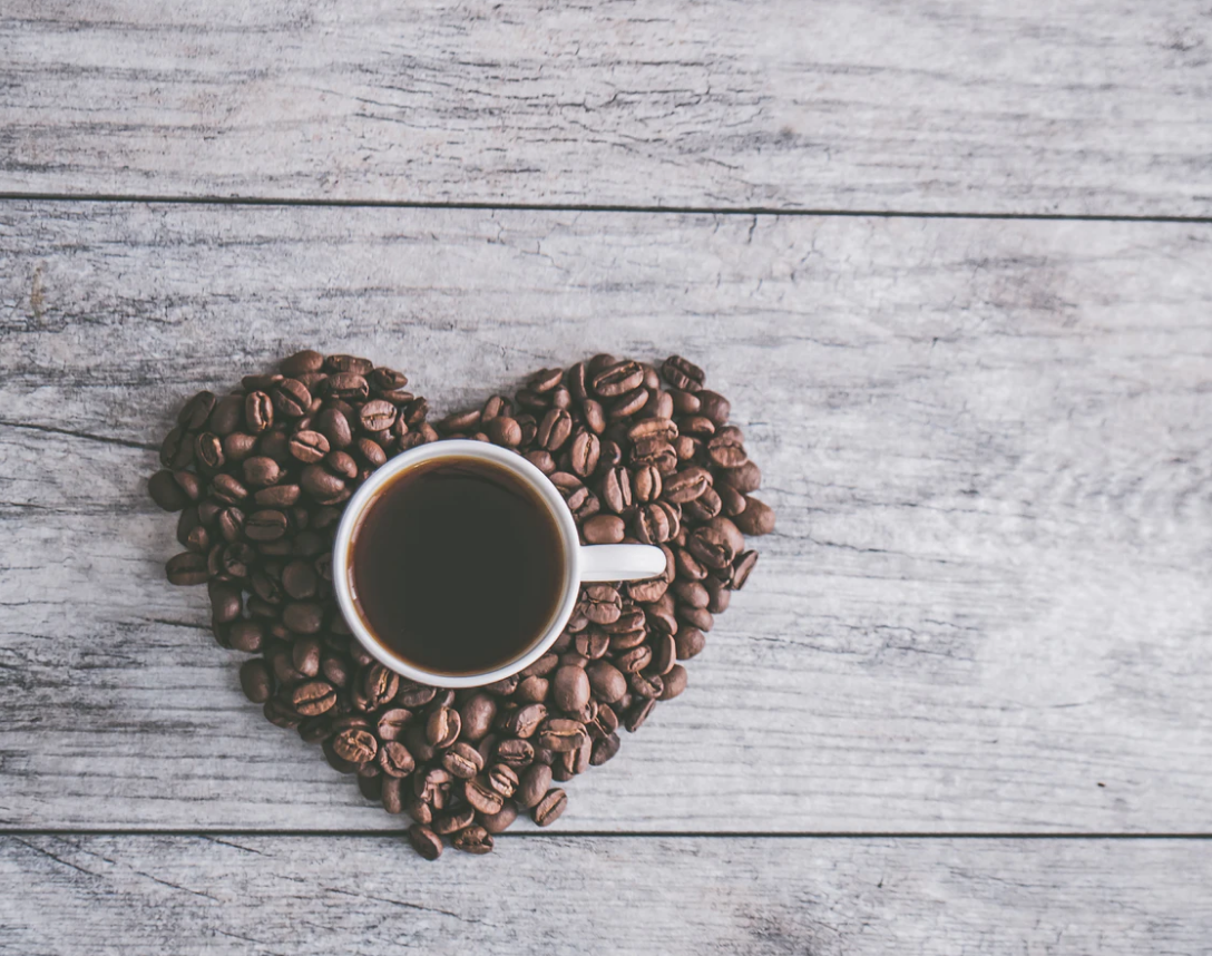 coffee spots at simon fraser coffee with heartshaped coffee beans